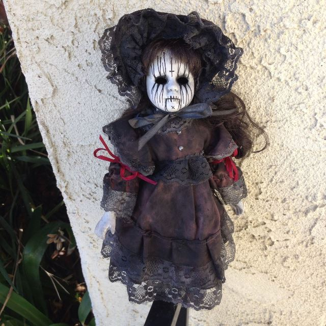 Smaller Death Metal Gothic Girl Creepy Horror Doll by Bastet2329