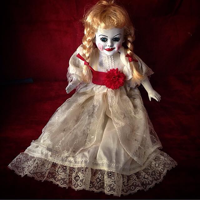 Annabelle The Conjuring Sitting Creepy Horror Doll by Bastet2329