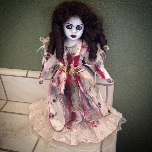 Voodoo Nails Red Lips Creepy Horror Doll by Bastet2329
