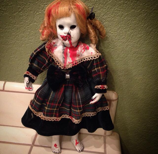 The Grudge Blonde Vampire Creepy Horror Doll by Bastet2329