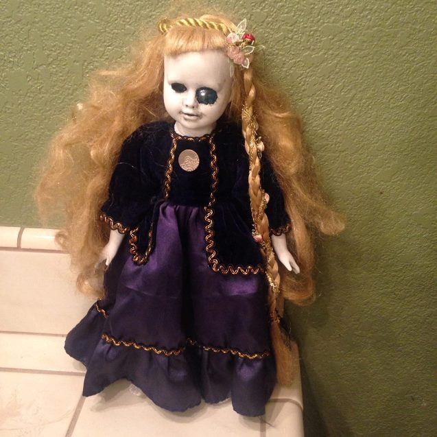 Rapunzel Fairy Tale Marble Eye Creepy Horror Doll by Bastet2329