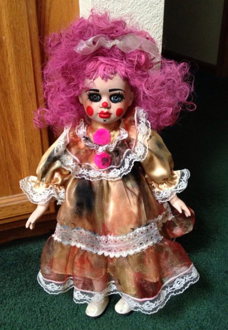 Raggedy Ann Pink Hair Clown Circus Sideshow Creepy Horror Doll by Bastet2329
