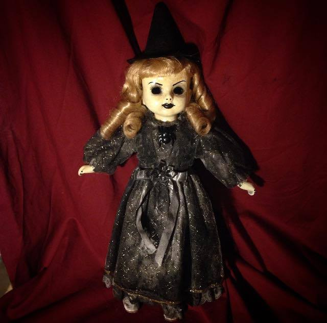 Old Fashioned Witch Blonde Hair Creepy Horror Doll by Christie Creepydolls