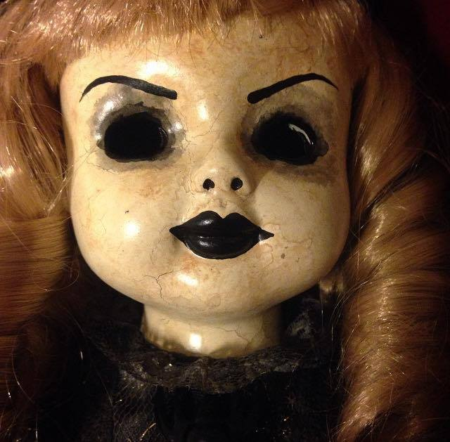 Old Fashioned Witch Blonde Hair Creepy Horror Doll By