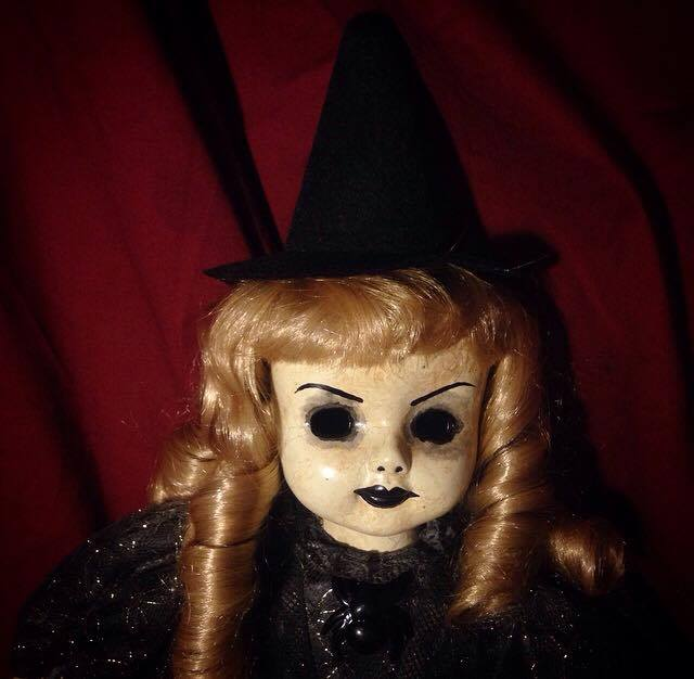 Old Fashioned Witch Blonde Hair Creepy Horror Doll by Christie Creepydolls - Click Image to Close