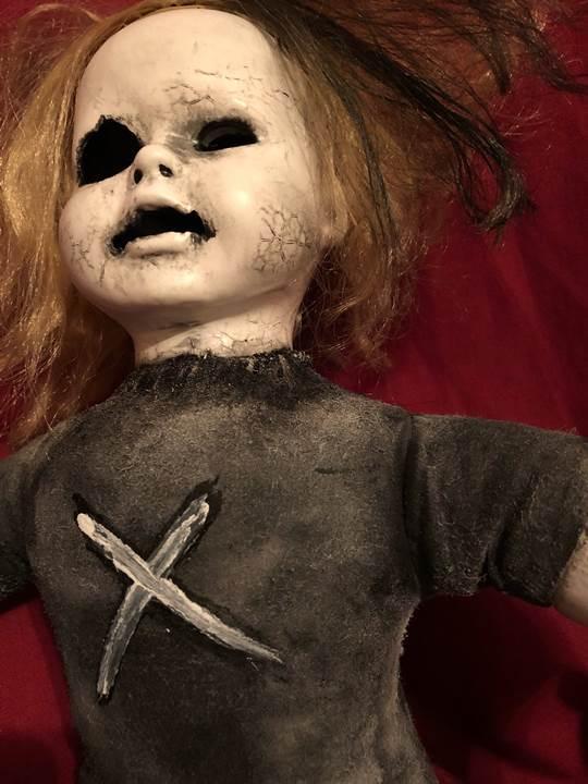 Ooak Ghost Baby Sitting Creepy Horror Doll Art By Christie