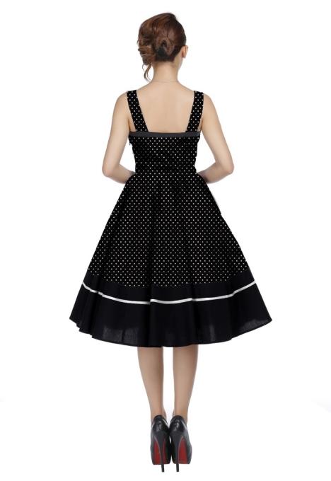 Plus Size Black White Polka Dot Flirty Rockabilly Dress 730s0