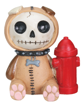 Rocky Doggie Furry Bones Skellies Figurine