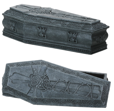 Gargoyle Rose Coffin Box