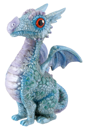 Blue Baby Dragon Figurine - Click Image to Close