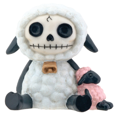 Woolee Sheep Furry Bones Skellies Figurine