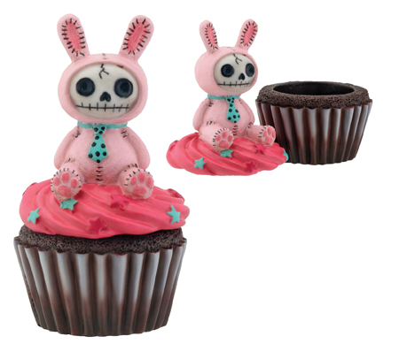 Pink Bun Bun Furry Bones Skellies Cupcake Box.