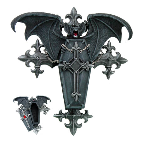 Vampire Bat Coffin Vamp Box by Anne Stokes