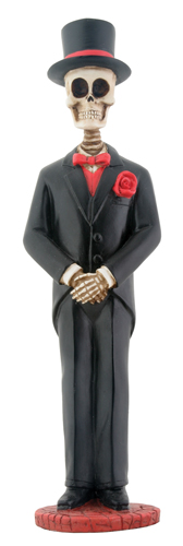 Day of Dead Large Skull Groom
