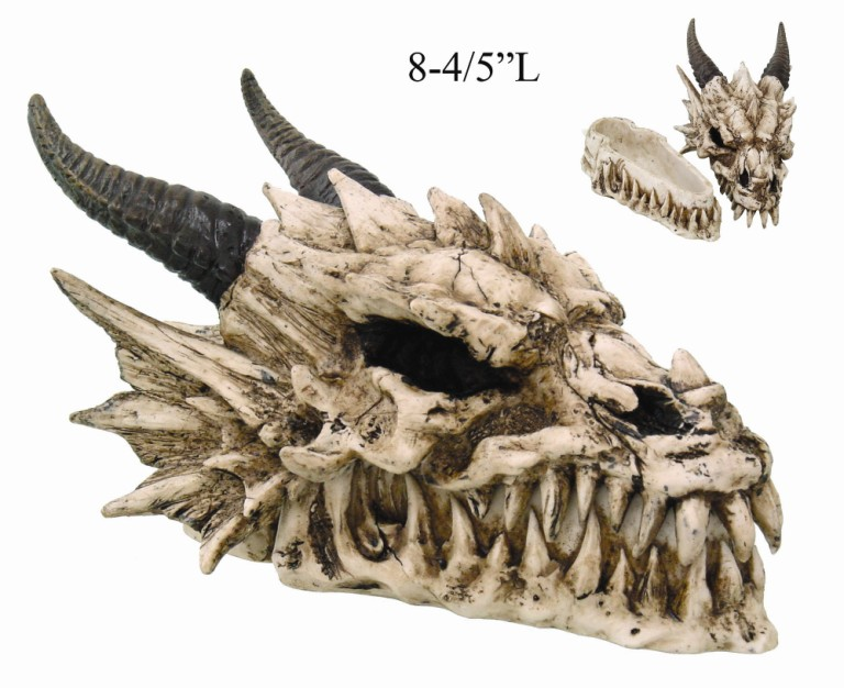 Horned Dragon Skull Box