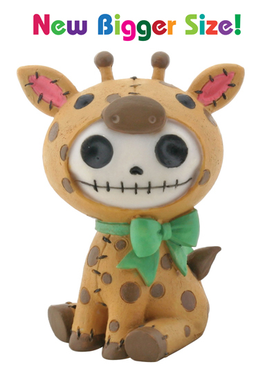 Kirin Giraffe Furry Bones Skellies Medium Figurine