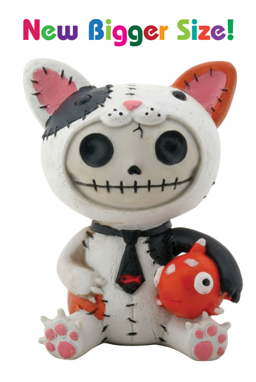 Calico Mao Mao Furry Bones Skellies Medium Figurine