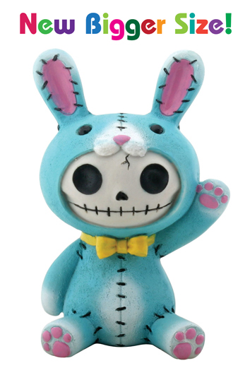 Blue Bun Bun Furry Bones Skellies Medium Figurine