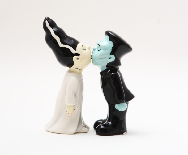 Frankenstein and Bride Monsters Magnetic Salt & Pepper Shakers