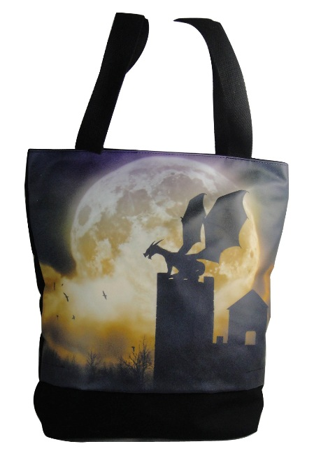 Dragon Castle Guardian Hand Bag Tote