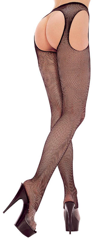 Plus Size Suspender Fishnet Pantyhose