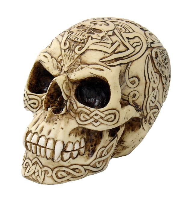 Celtic Skull with Vampire Teeth