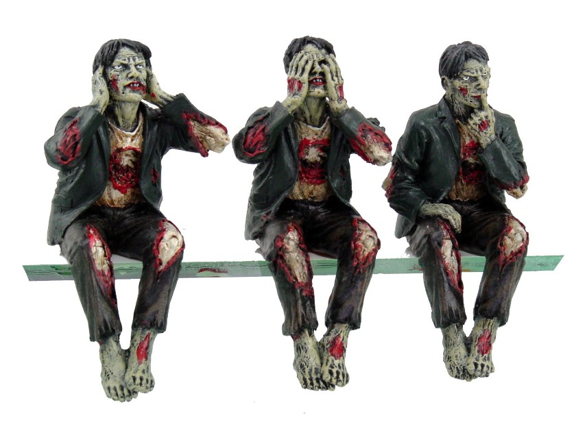 Hear No, Speak No, See No Evil Zombies Set