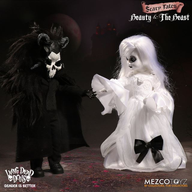 Living Dead Dolls Presents Beauty and the Beast Scary Tales Boxed Coffin Set - Click Image to Close