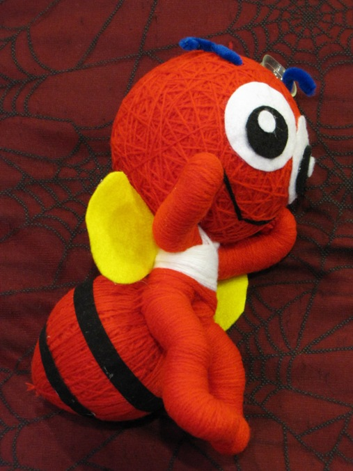 Red & Yellow Bee Large Voodoo Doll