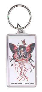 Red Hearts fairy acrylic keychain