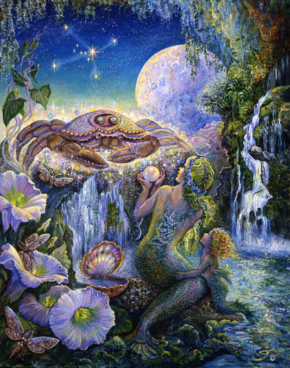 Cancer Zodiac Collector's Card by Josephine Wall