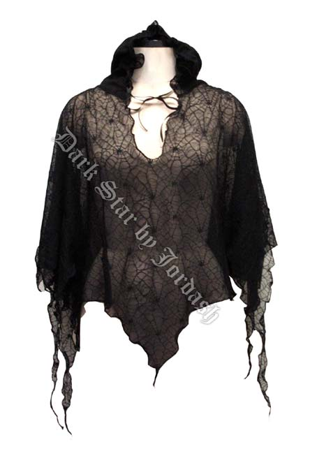 gothic poncho hooded