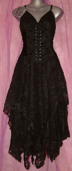 GOTHIC VICTORIAN VAMPIRE Black Layered Corset Dress | review