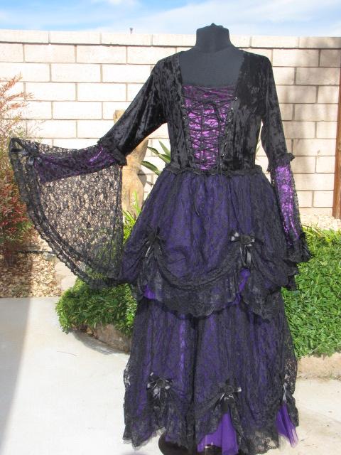 Dark Star Black Lace Amp Purple Velvet Romantic Gothic Fairy