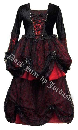 Dark Star Black Lace Amp Red Velvet Romantic Gothic Fairy
