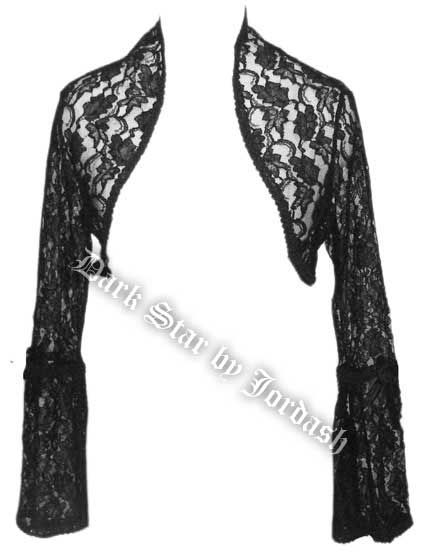 Dark Star Black Lace Gothic Shrug Bolero Top