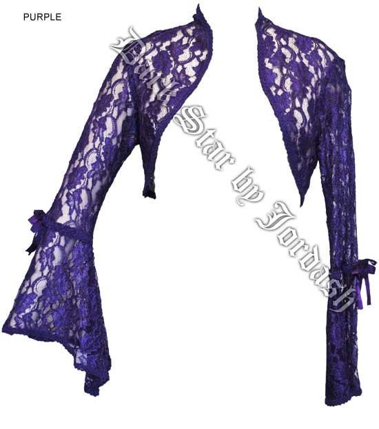 Dark Star Purple Lace Gothic Shrug Bolero Top