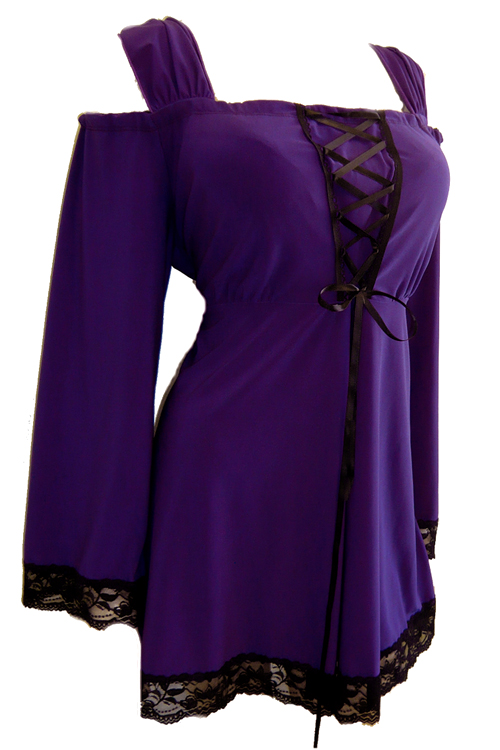 Plus Size Indulgence Top in Perfect Purple