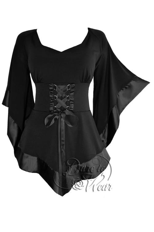 Plus Size Black Gothic Treasure Corset Top