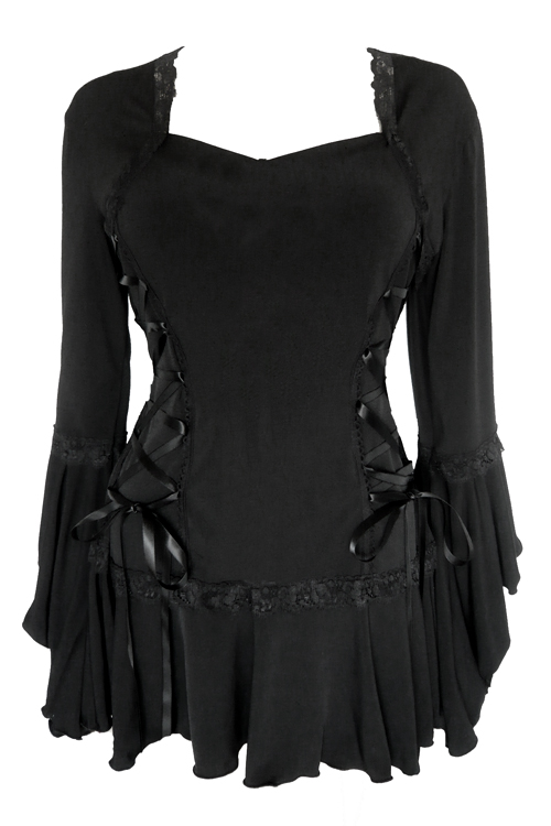 Plus Size Black Gothic Bolero Lacing Corset Top - Click Image to Close