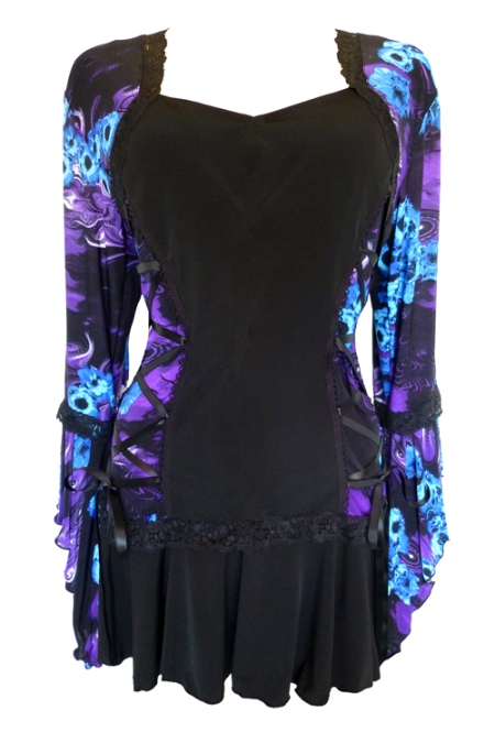 Plus Size Purple Potion Bolero Lacing Corset Top
