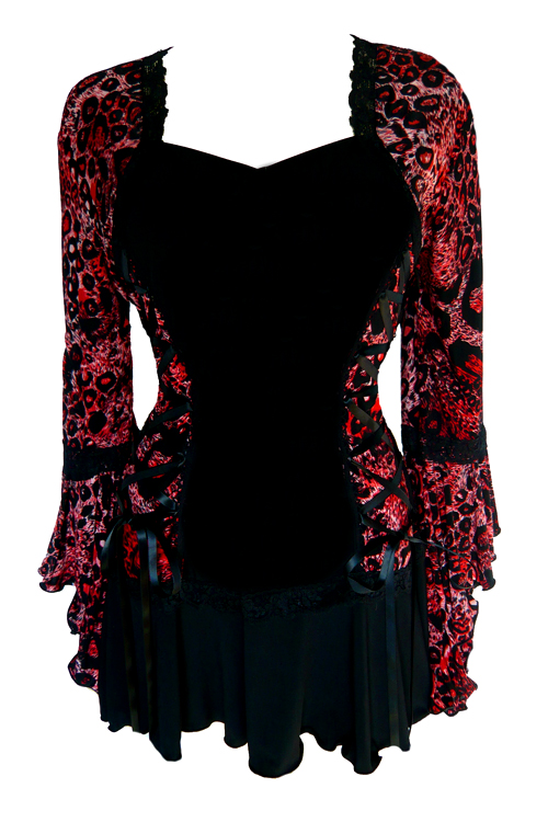 Plus Size Savage Red Bolero Lacing Corset Top