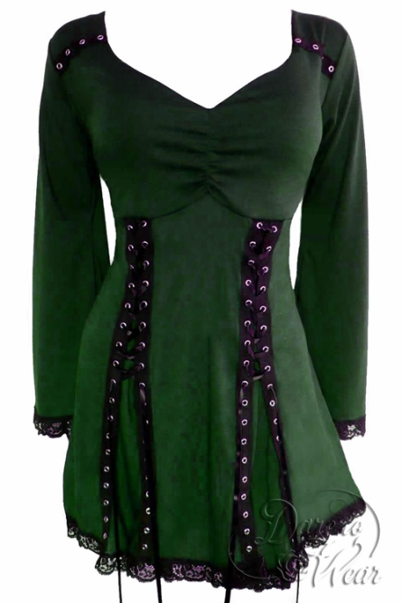 Plus Size Electra Corset Top in Green Envy