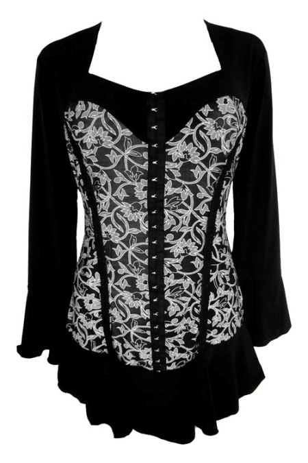Plus Size Corsetta Top in French Lace