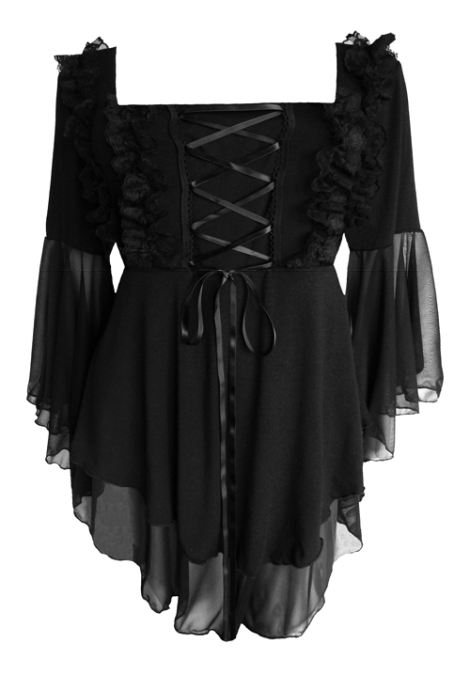 Plus Size Black Gothic Fairy Tale Corset Top