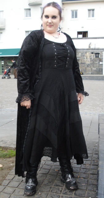 b94315c3b73 Wearing  Dark Star Black Gothic Corset Long Gown Size  FreeSize (1X-2X)  From  Galway