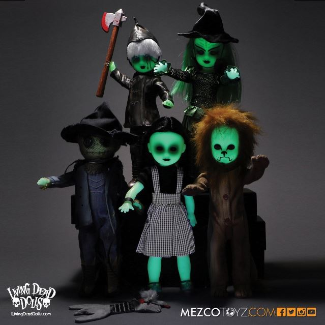 Living Dead Dolls Lost In Oz Glow In The Dark Variants Limited To 50 Sets *Worldwide*