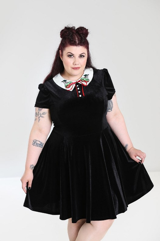 Hell Bunny Plus Size Gothic Wednesday Addams Nightshade Poison