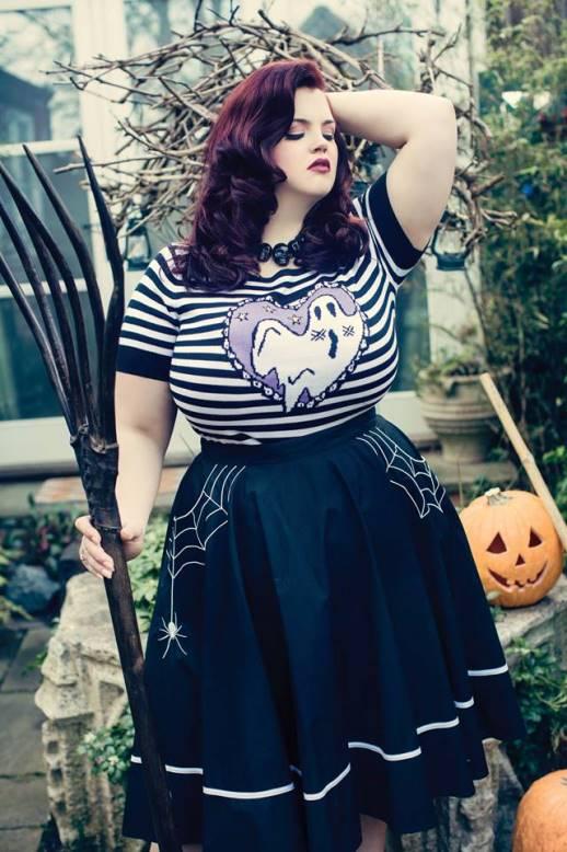 586c2696d11 ... Hell Bunny Plus Size Black Little Miss Muffet Spider Web Rockabilly  Halloween Gothic Swing Skirt