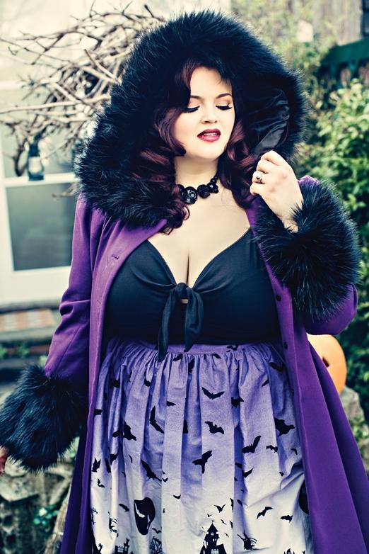 Hell Bunny Plus Size Purple Halloween Haunt Gothic Skirt Hb5460